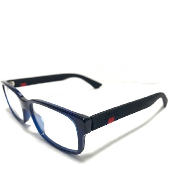 Gucci GG0012O 004 Blue Eyeglasses New Authentic
